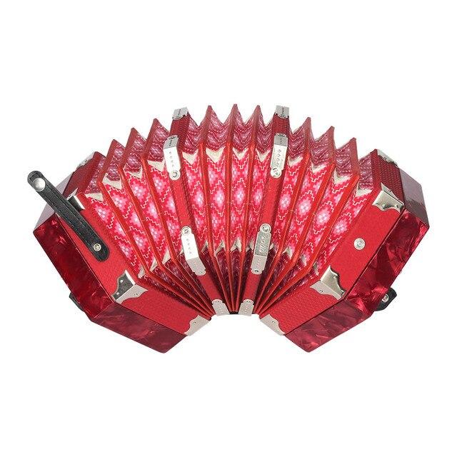 コンサーティーナアコーディオン 20 ボタン 40 リードアングロスタイルキャリングバッグ