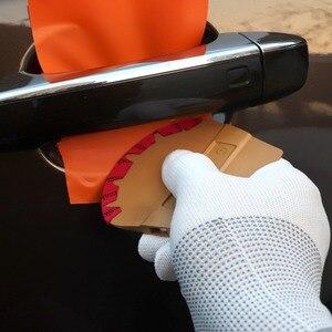 Image 4 - EHDIS raclette en feutre de microfibre, aimant en vinyle, en Film carbone, racleur denveloppe magnétique de voiture, autocollant de style de voiture, accessoires, outil de teinture de fenêtres