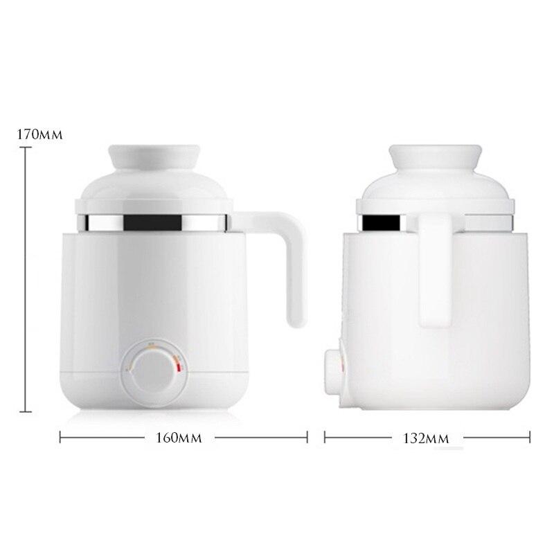 DMWD 600 мл каши, кастрюля для супа Керамика электрическая нагревательная чашка 220V мини Электрический кипения личного Пособия по кулинарии Чай чашки