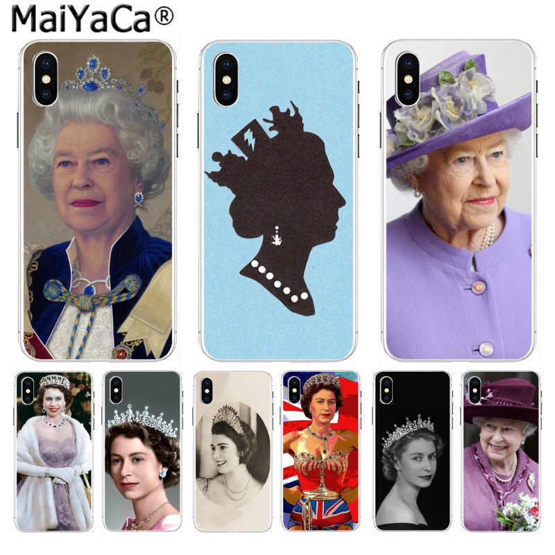 غطاء هاتف رقيق للغاية من MaiYaCa The Queen إليزابيث II برنسيس بلون واحد لهاتف آيفون 11 pro 8 7 66S Plus X 5s SE XR XS XS MAX