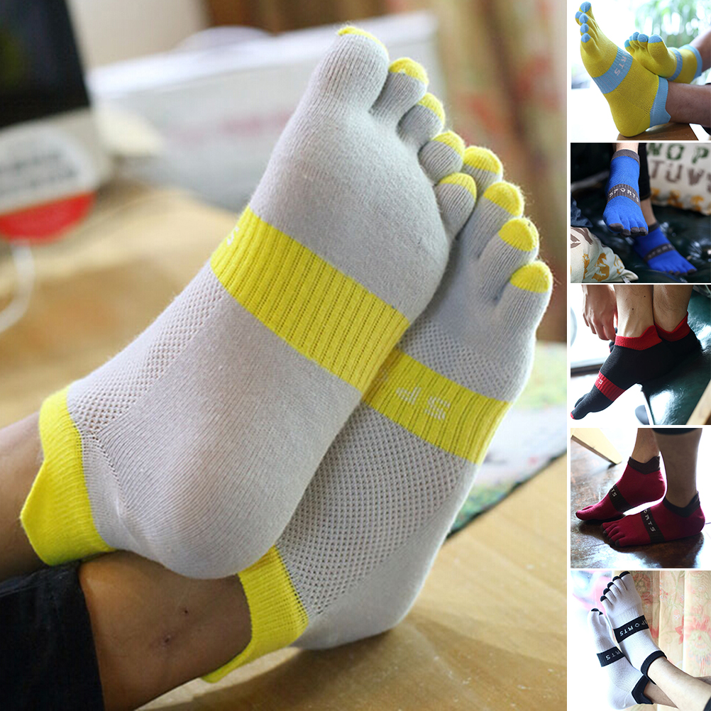 Summer New Mens Toe   Socks   Cotton Five Fingers   Socks   Casual   Socks   With Toes Ankle   Socks