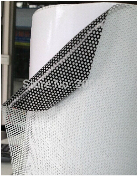 White Perforated Vinyl Fly Eye Tint Spy Vision Can Printable And Paintable  Self Adhesive Size 1.07