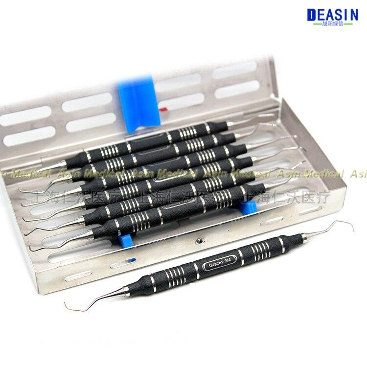 Urządzenia dentystyczne Dental implant skrobak kamień poddziąsłowy, aby usunąć przyzębia jamy ustnej narzędzia stomatologiczne 7 sztuk w Wybielanie zębów od Uroda i zdrowie na AliExpress - 11.11_Double 11Singles' Day 1