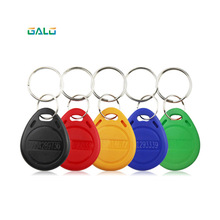 10pcs 13.56MHz RFID MF Classic 1k Keyfobs Keychains ISO14443A access control key card token Smart Key Tag-Colorful Color 13 56mhz mf 1k s50 fm11rf08 f08 nfc transparent trops of glue card rfid key tag key ring