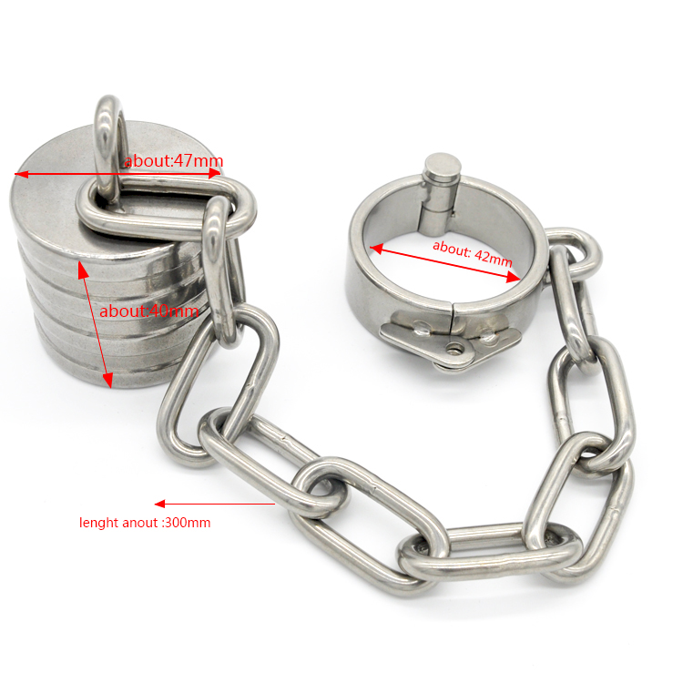 675g Stainless steel ball stretcher metal cock ring steel penis ring scrotum stretcher time delay cockring sex toys phallus pendant delay cock ring stainless steel penis ring cockring ball stretcher adult sex toys for men sex toys for couples 7