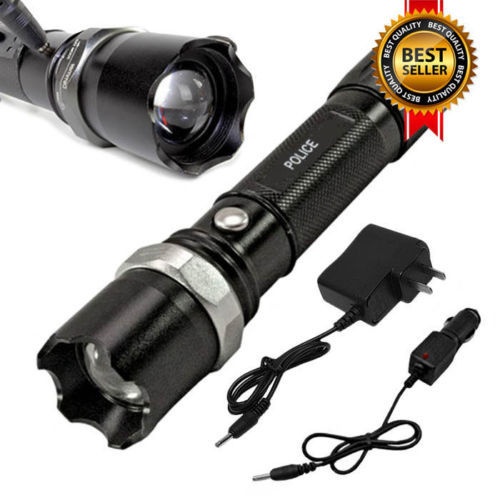 Tactical Police SWAT LED Rechargeable Flashlight