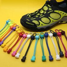 Pair Mengunci tanpa dasi tali sepatu malas sneaker anak aman renda elastis cordones hand made Polyester Nylon Kain