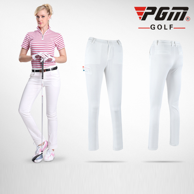 PGM Women Colorful Golf Pants Summer Sunproof Nylon ...