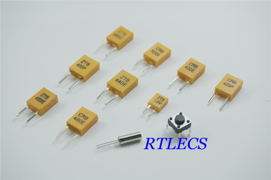 10pcs/item 6x6x4.3 Tact Switch 400 429 432 440 455 465 480 500 KHz 1.0 <font><b>Mhz</b></font> Ceramic Resonator 32.768KHz 3x8 12.5PF 20ppm Crystal image