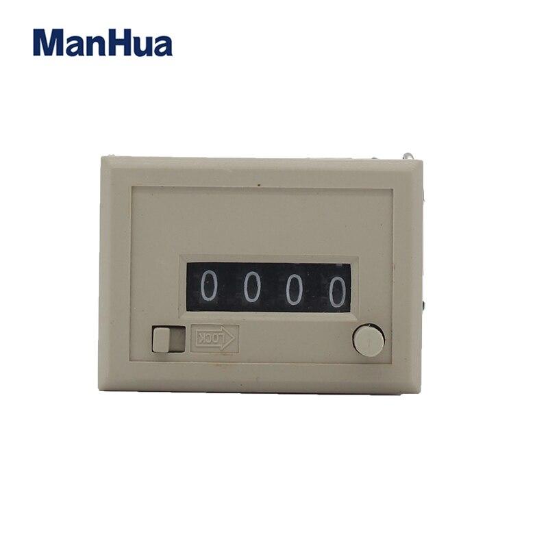 Manhua Dc24v Csk4y Electromangenic Zähler Mit Reset Botton Schloss Zähler StraßEnpreis Messung Und Analyse Instrumente