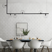 Gold Black Nordic Pendant Light Clear Glass Lampshade Hanging Lamp Dining Room Cafe Bar LED Pendant Lights Suspension Luminaire