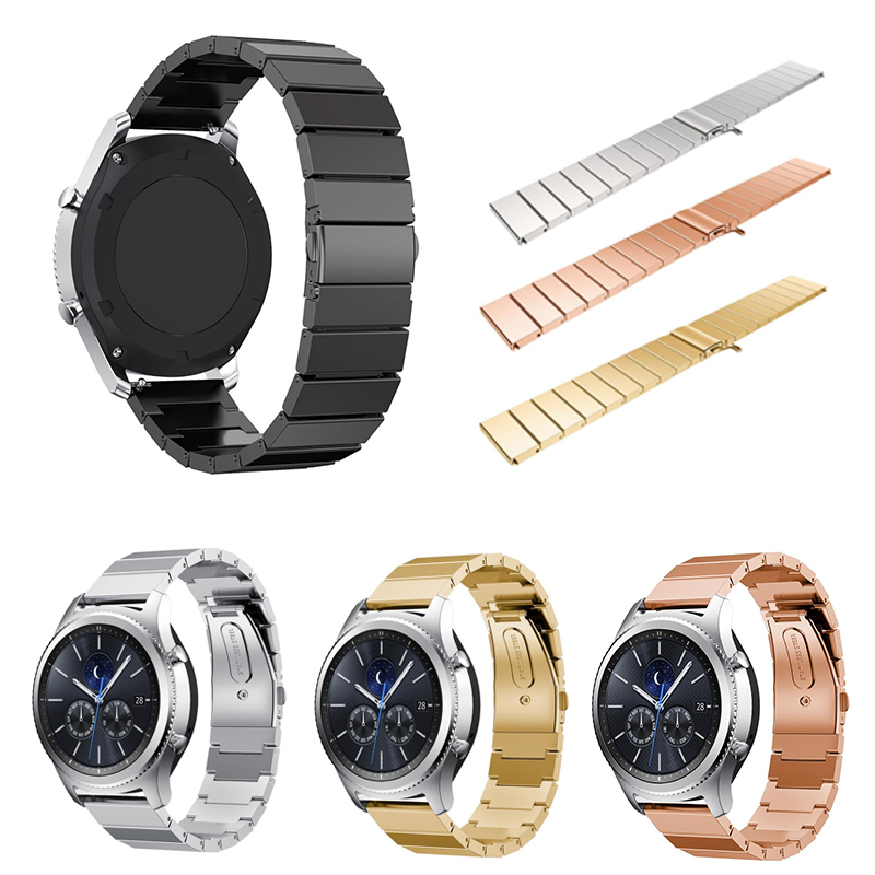 stainless steel 22mm band for samsung galaxy gear s3. Black Bedroom Furniture Sets. Home Design Ideas