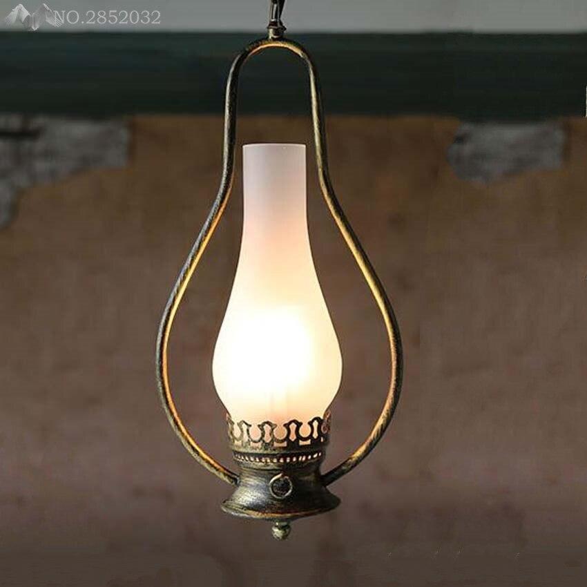Style américain fer kérosène pendentif lumières vintage loft industriel vent lustre suspension lampe éclairage industriel luminaire