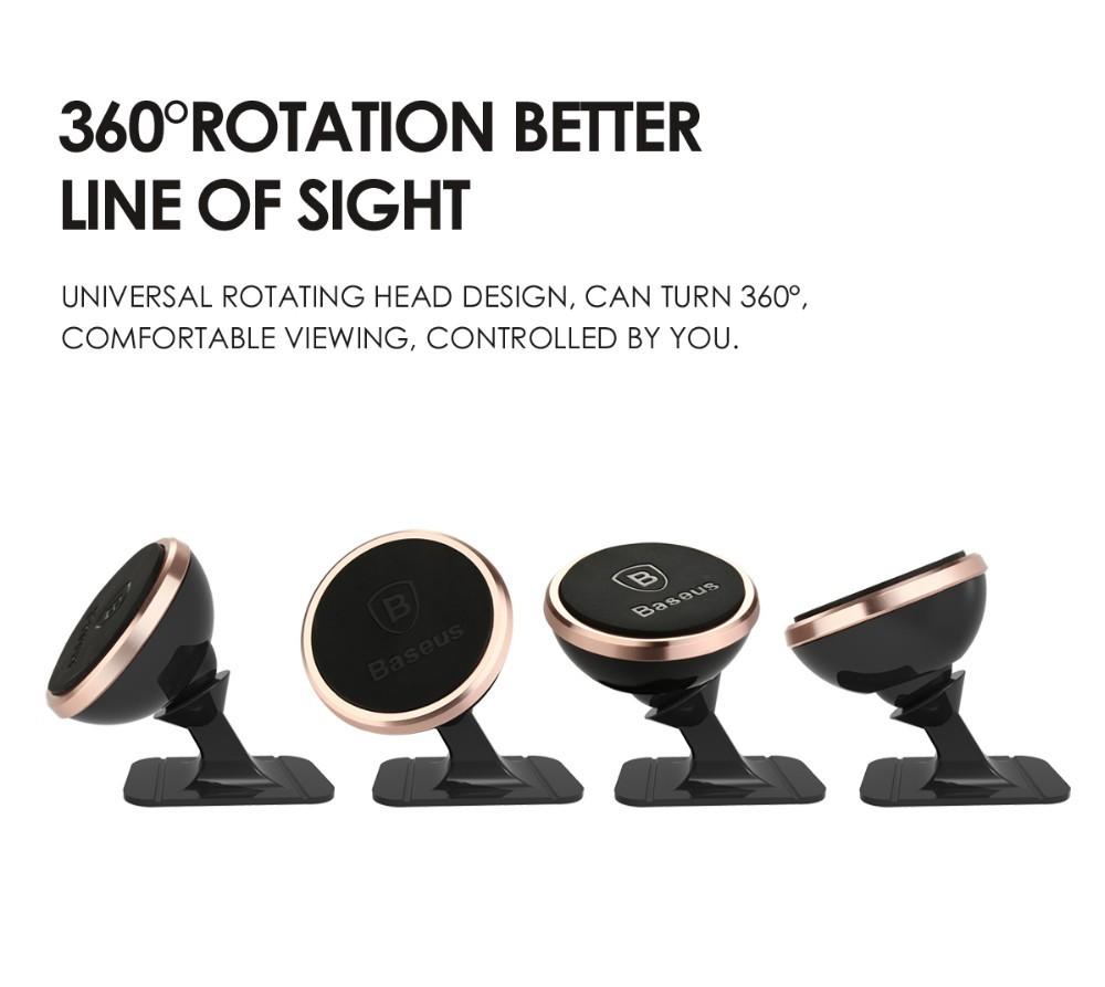 Oryginalny baseus uniwersalny magnetyczny obrót o 360 stopni uchwyt magnetyczny uchwyt samochodowy uchwyt telefonu dla iphone samsung smartphone gps 4