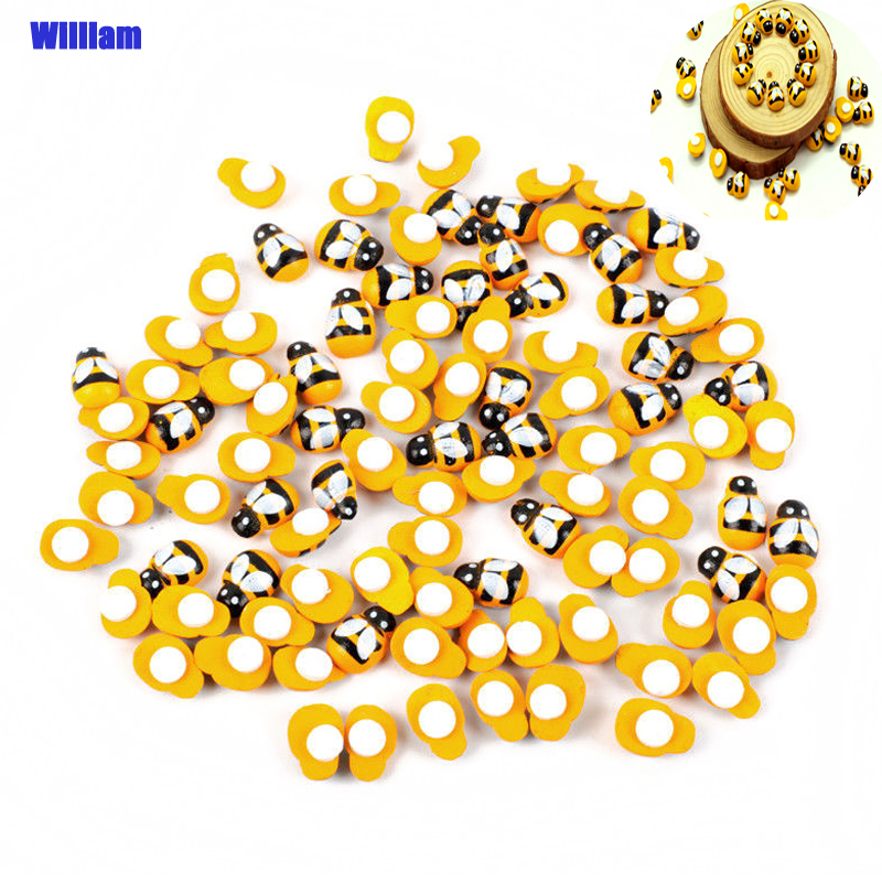 100pcs Mini Bee DIY Ladybug Stickers Scrapbooking Easter Decoration Home Wall Decor Embellishments Birthday Party Decorations(China)