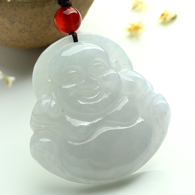Authentic burma emeralds laughing buddha pendant carved jade jade authentic burma emeralds laughing buddha pendant carved jade jade buddha jade pendant female peace with certificate in pendants from jewelry accessories aloadofball Images