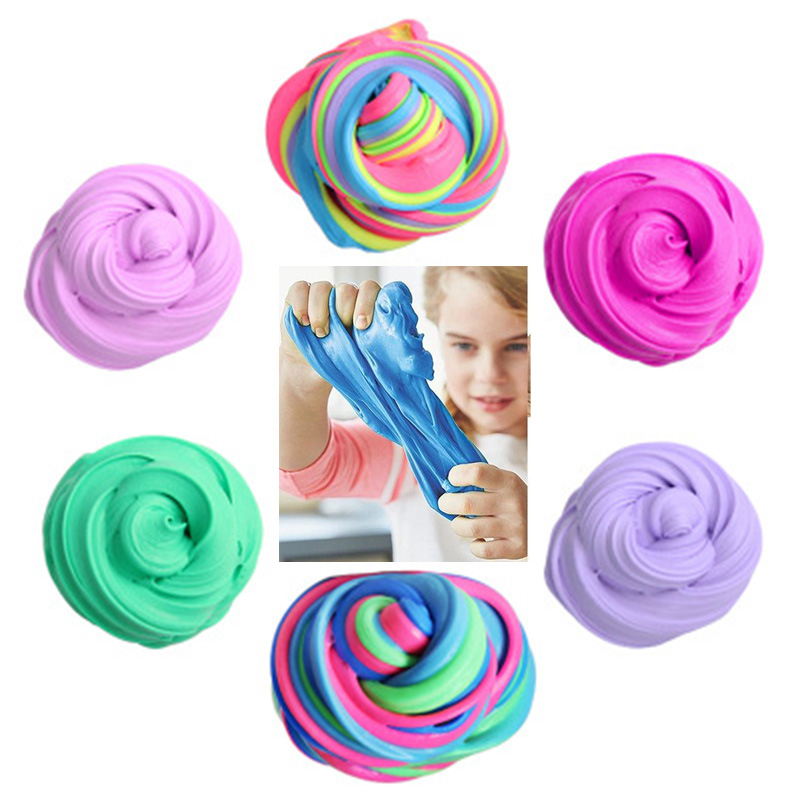 Snow Mud Fluffy Floam Slime Scented Stress Relief No Borax Kids Toy Clay For Arts Crafts