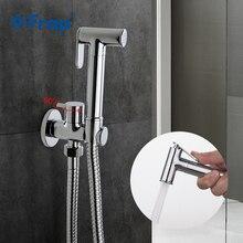 Frap1 Válvula de esquina de agua de Solo Frío de latón macizo, función de bidé, grifo de ducha cilíndrico de mano, interruptor de 90 grados, F7501
