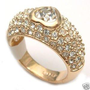 Fancy Crystal CZ Heart vergoldet Ring