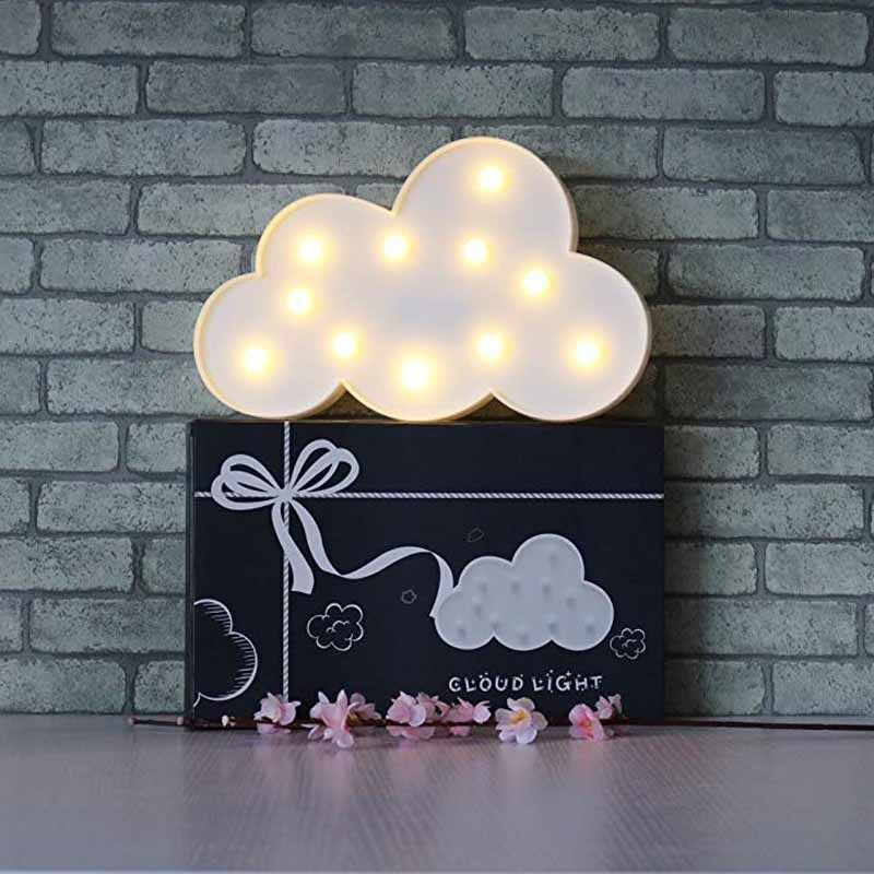 Nuvem Luz Unicórnio para menina menino kid primeira Festa de Aniversário Peças Centrais da tabela Do casamento do Natal Decoração do Presente do favor do chuveiro de bebê