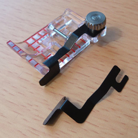 Janome прозрачный вид стежка ног 1 шт. и руководство набор для 9 мм макс ширина стежка машина внутренние Запчасти для швейной Машинки #202-089-005 ...