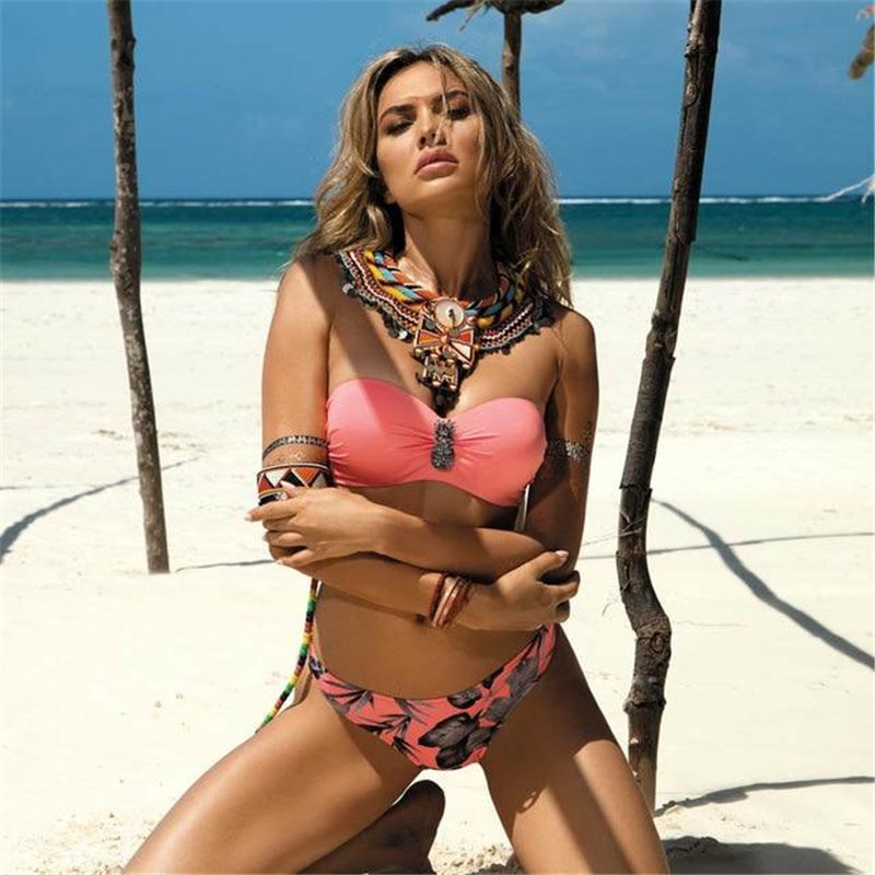HTB1bb7yPHrpK1RjSZTEq6AWAVXah Plus Size Sexy Bikini 2020 Push Up Bikini Set Pink Swimwear Women Micro Swimsuit Female Bandage Biquini Beach Party Two-Piece XL