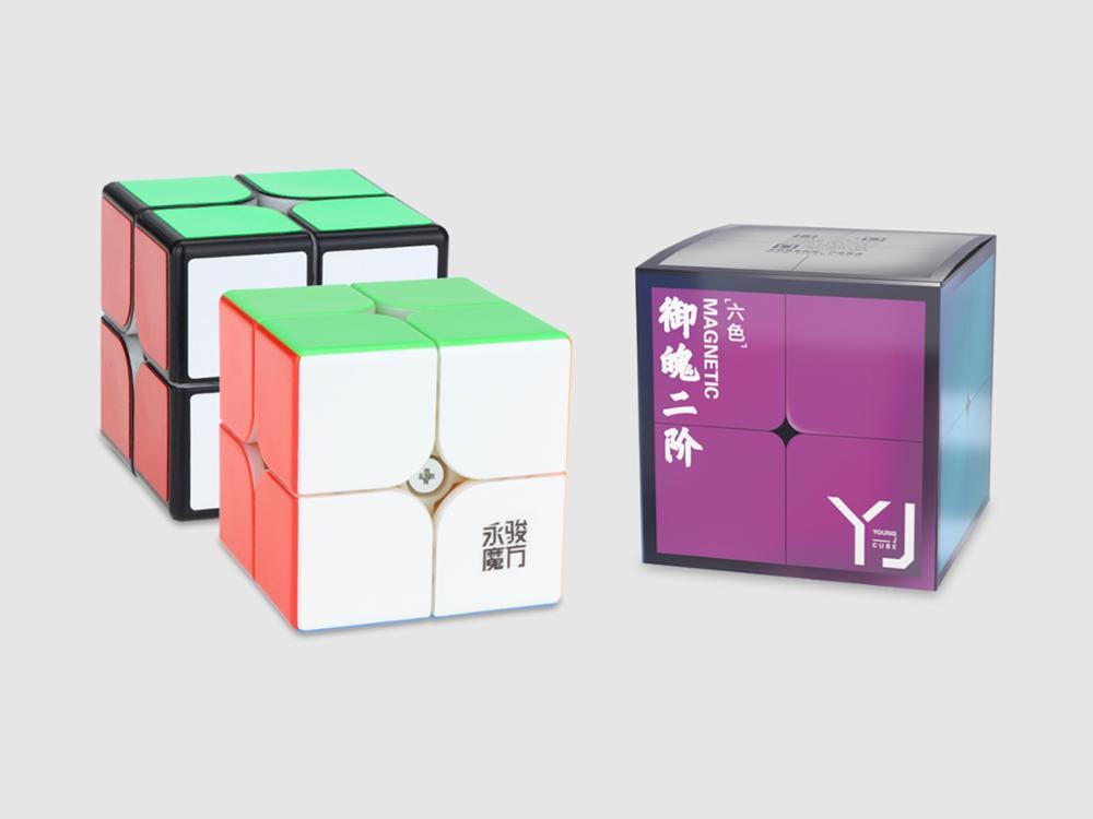 Original Yongjun Yupo V2 M 2x2x2 Magnetic Speed Cube 2x2 2M Magic Cube Puzzle Professional Educational Toys For Kids
