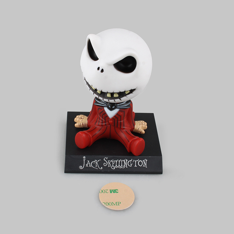 Image 5 - Car Ornaments Jack Skeleton Action Figure Shaking Head Doll Dashboard Decoration The Nightmare Before Christmas jack Toys New-in Ornaments from Automobiles & Motorcycles