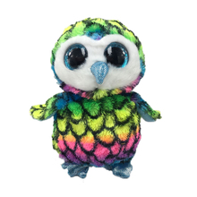 Bright Big Eyes Soft Plush Toys Animal Pet font b Doll b font Colored Owl