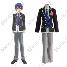 Anime DATE A LIVE Itsuka Shidou Cosplay Costume Boys College Uniform Swimsuit 4pcs Set Mens Halloween Cosplay Fancy Outfit