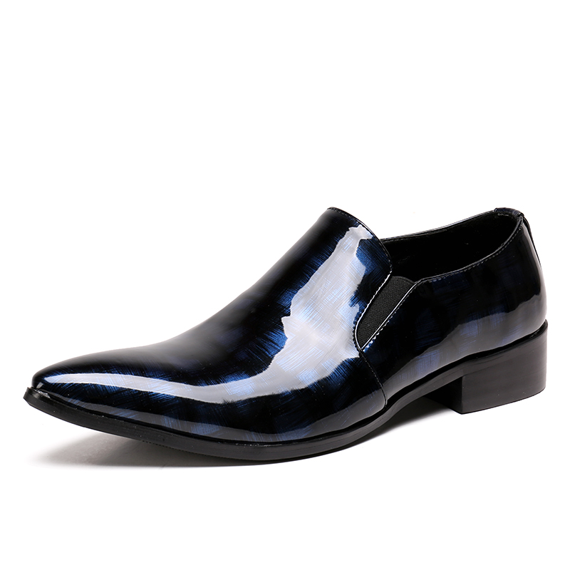 Christia Bella Fashion Formal Mens Dress Shoes Genuine Leather Luxury Wedding Male Shoes Office Suit Shoes Summer Slippers Men