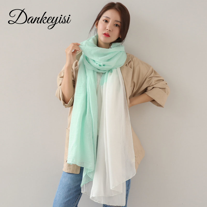 Dankeyisi модные женские туфли шарф мягкий тонкий длинный хлопок Шарфы для женщин негабаритных шаль леди пашмины бандана платки
