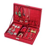 Fashion Jewelry Organizer Box Plate Stud Earring Earrings Storage Box Ring Wedding Jewelry Packaging Display Gift