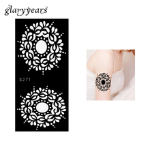 1 Piece Garland Henna Tattoo Stencil Drawing Flower For Lady Arm Leg Body Art Tattoo Templates Airbrush Painting Fashion S271