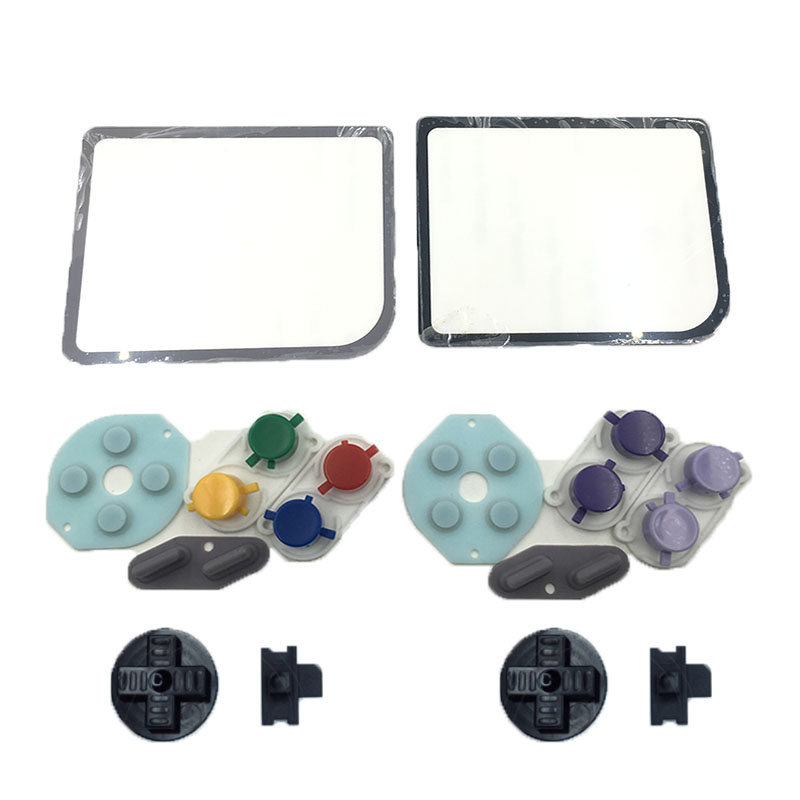 6sets For Game Boy Zero Plastic A B Buttons Select Start RubberButtonKit For Raspberry Pi Glass Lens Protector ...