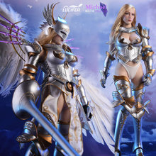 "[Estartek] Lúcifer LXF1703 1/6 Wings of Dawn Traje Armadura Espada Ver/Angel Ver 12 ""de Ação Collectible figura Cosplay Boneca(China)"