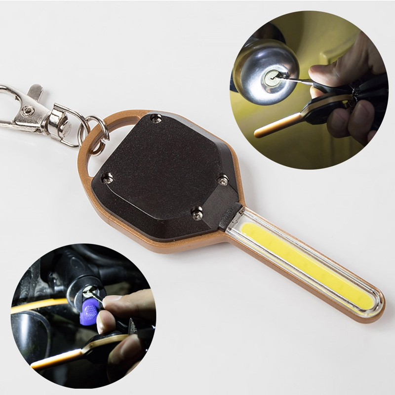 Led Lighting Lights & Lighting Mini Key Shape Key Chain Ring Keychain Lamp Torch Led Flashlight Light Emergency Camping Night Light