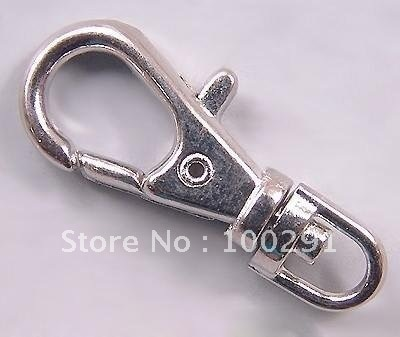 Nickel Free 38mm Silver Plated Swivel Clips Swivel Clasps Lobster claps for Lanyards Key Chains
