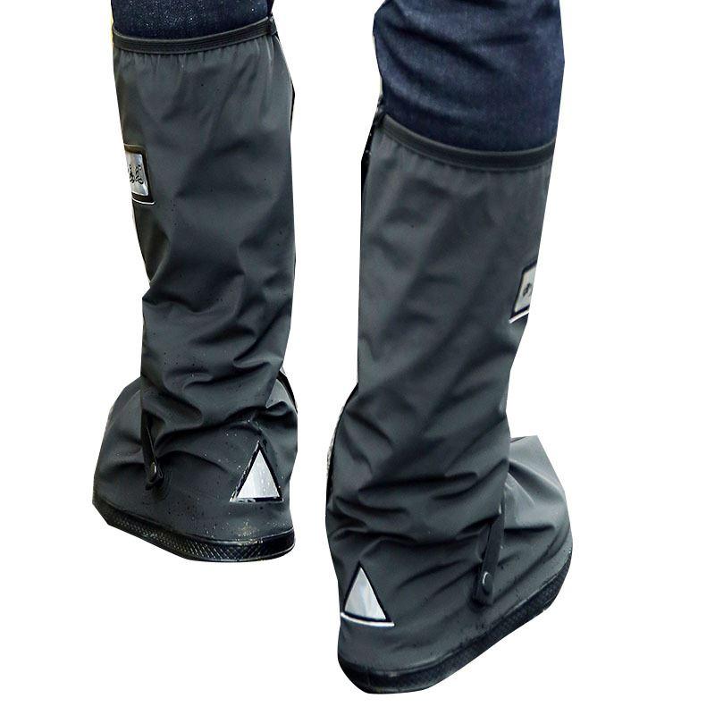 купить Cycling Shoes Covers Overshoe Boots Cover Waterproof Relectors Rain Boots Black Reusable Men Women Motorcycle Bike All Seasons по цене 643.26 рублей