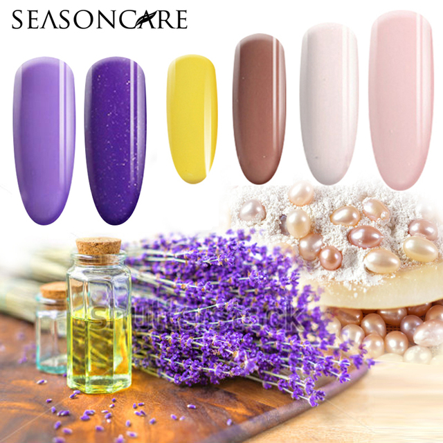 2016 SEASONCARE Hot Sale Pearl fragrance UV Nail Gel Polish Soak Off Nail Gel Lacquer Nail Art French Manicure 12ML Gel Lacquer