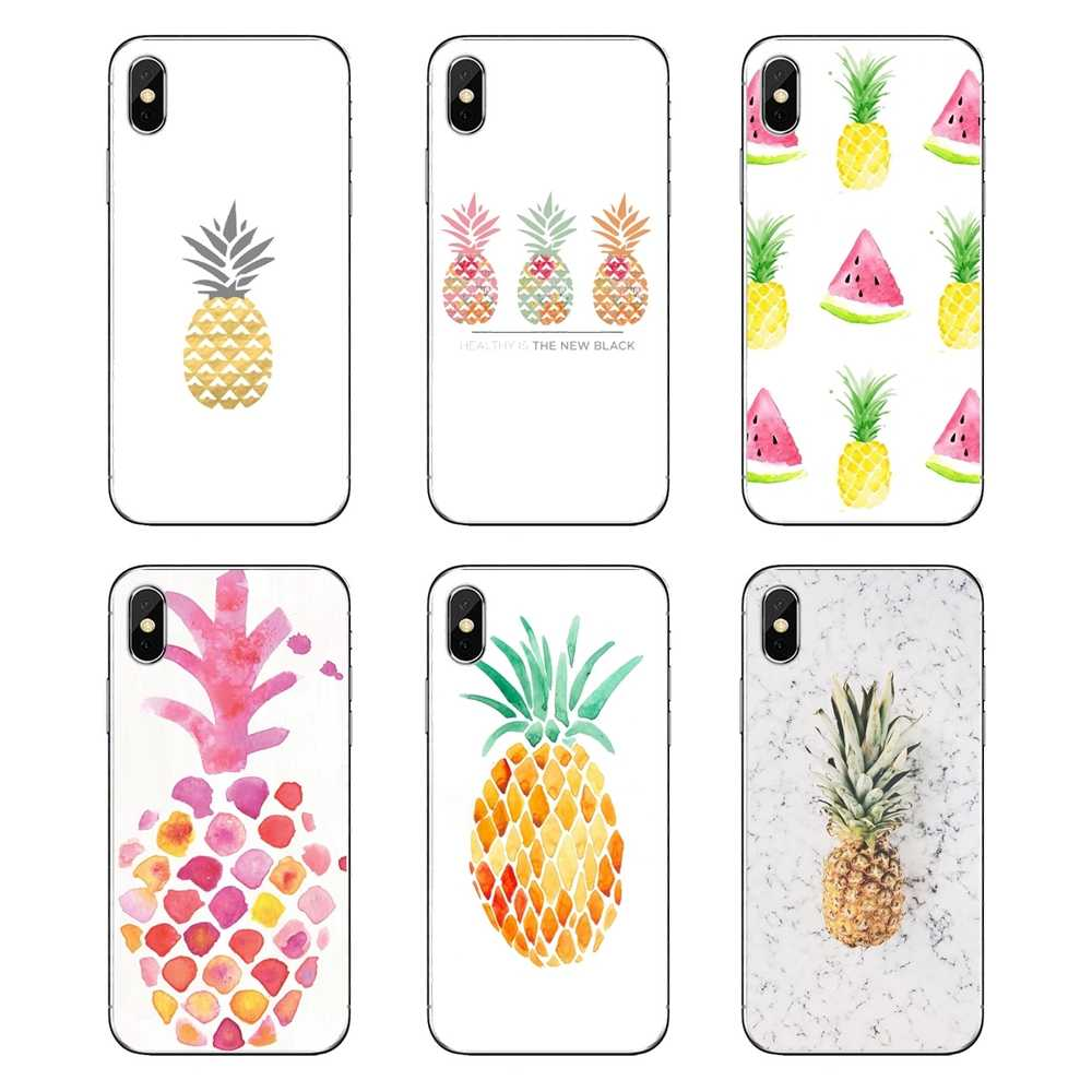 Cute Lovely Pineapple Fruit Iphone Wallpaper 2 Soft Cases Covers For Ipod Touch Iphone 4 4s 5 5s 5c Se 6 6s 7 8 X Xr Xs Plus Max Aliexpress