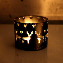 Christmas Iron Hollow Candle Holder