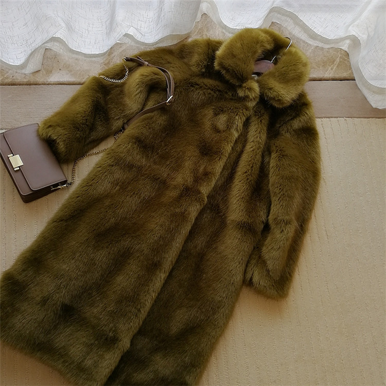 Faux Fur 2019 New Style High-end Fashion Women Faux Fur Coat S71