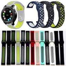 Bracelet ruber band for samsung gear s2 Frontier Sport Band xiaomi huami amazfit bip pace lite belt 20mm все цены
