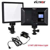 Viltrox L116T Super Dünne Studio LED Video Licht 3300 K-5600 K Bi-farbe LCD Display CRI95 + für DSRL Kamera Camcorder + 2M AC Adapter
