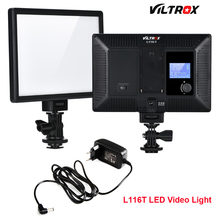 Viltrox L116T Super Slim Studio LED Video Light 3300K-5600K Bi-color LCD Display CRI95+ for DSRL Camera Camcorder +2M AC Adapter(China)