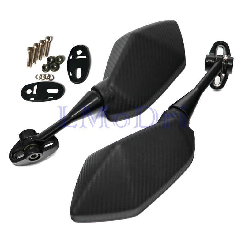 Image 3 - LMoDri Motorcycle Mirrors Racing Sport Bike Rear View Mirror For Honda CBR F4 F4i/RC51/ RVT1000 DD250E/300/350 HYOSUNG GT Carbon-in Side Mirrors & Accessories from Automobiles & Motorcycles