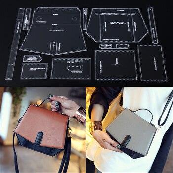 17b3b4d71 Handmamde bolso acrílico de cuero Plantilla de cuero patrón DIY  Leathercraft patrón de costura plantillas 22