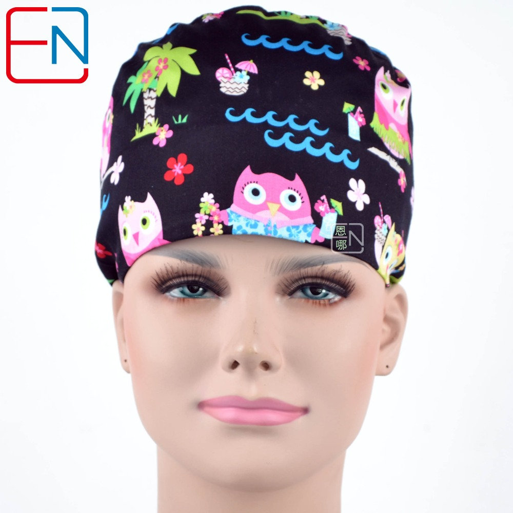 Hennar Brand Medical Hats For Female Surgical Caps 100% Cotton
