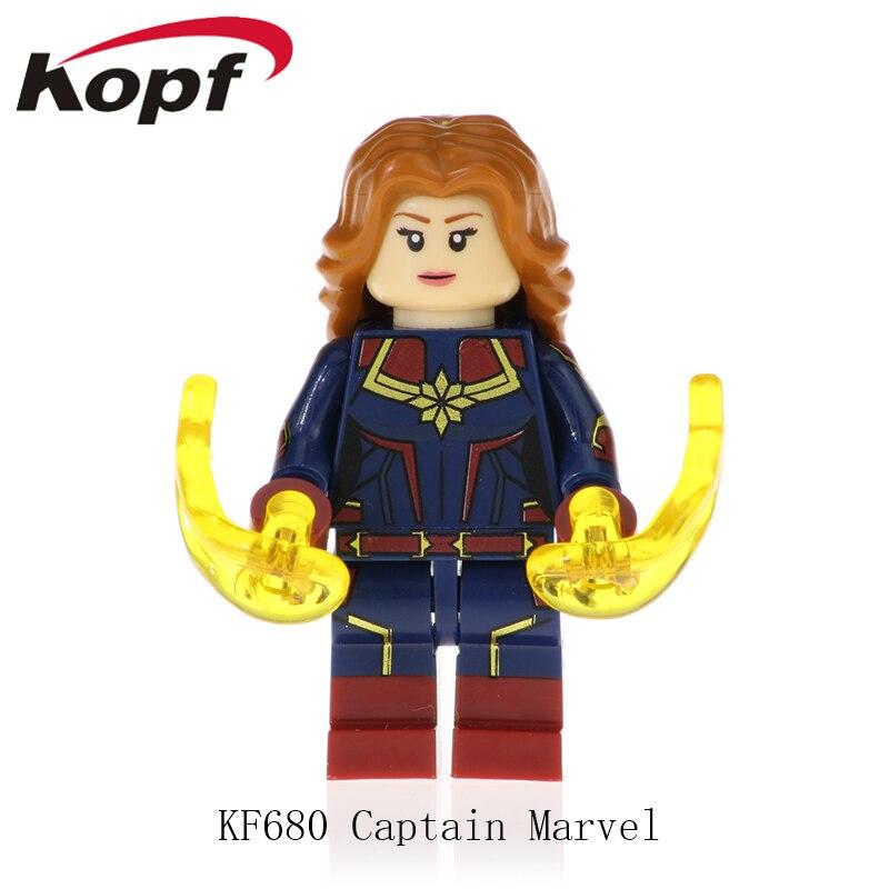 KF680 Single Sale Super Heroes Captain Avengers Captain Marvel Deadpool American Carnage Bricks Figures Dolls Toy For Children